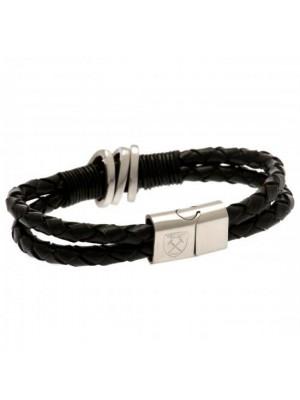 West Ham United FC Leather Bracelet