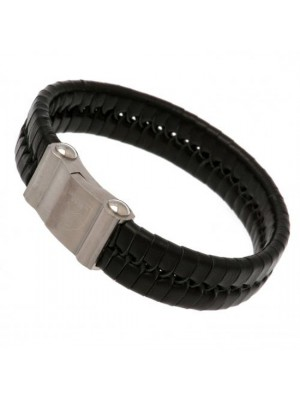 West Ham United FC Single Plait Leather Bracelet