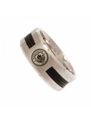 Manchester City FC Black Inlay Ring Small