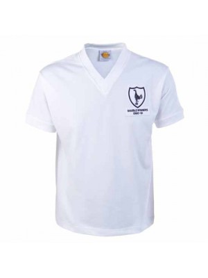 Tottenham Hotspur 1961 Double Winners Retro Football Shirt