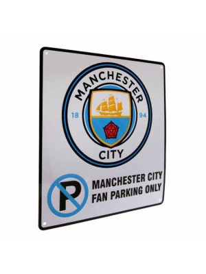 Manchester City FC No Parking Sign