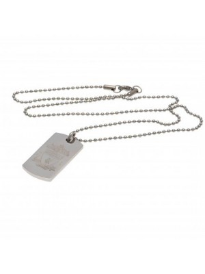 Liverpool FC Engraved Crest Dog Tag & Chain CR
