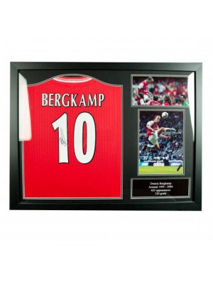 Arsenal FC Bergkamp Signed Shirt (Framed)