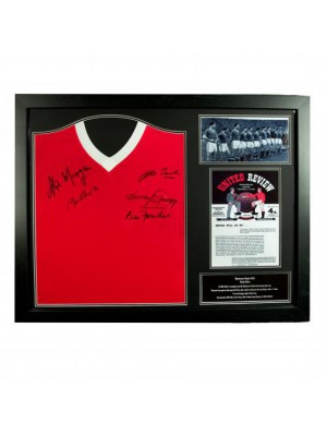 Manchester United FC 1958 Busby Babes Signed Shirt (Framed)