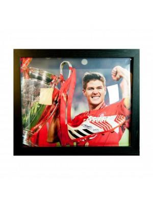 Liverpool FC Gerrard Signed Boot (Framed)