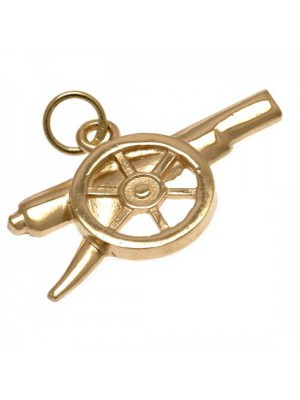 Arsenal FC 9ct Gold Pendant Cannon