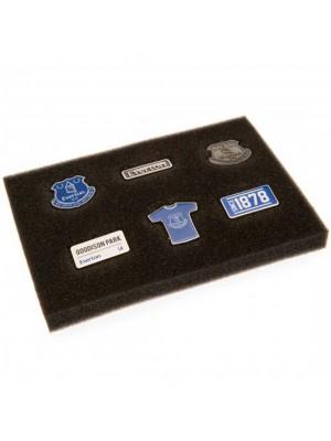 Everton FC 6 Piece Badge Set