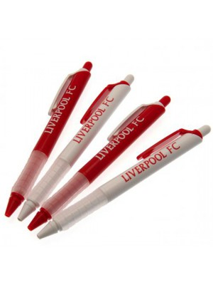 Liverpool FC 4 Pack Pen Set