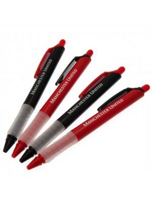 Manchester United FC 4 Pack Pen Set