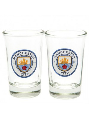 Manchester City FC 2 Pack Shot Glass Set