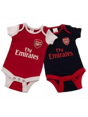 Arsenal FC 2 Pack Bodysuit 3/6 Months Nr