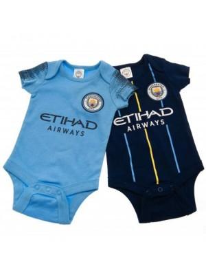 Manchester City FC 2 Pack Bodysuit 6/9 Months NV