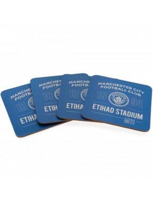 Manchester City FC 4 Pack Coaster Set