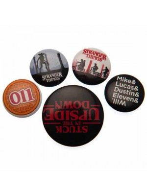 Stranger Things Button Badge Set