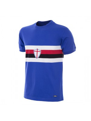 UC Sampdoria 1975 - 76 Short Sleeve Retro Football Shirt