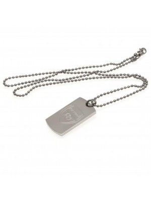 Arsenal FC Engraved Crest Dog Tag & Chain