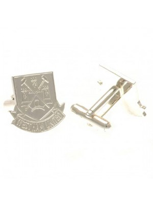 West Ham United FC Silver Plated Cufflinks CR CT