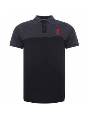 Liverpool FC Block Polo Shirt Mens Navy L