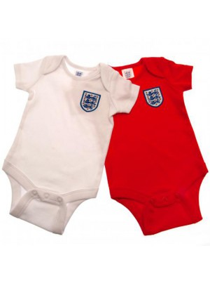 England FA 2 Pack Bodysuit 6/9 Months