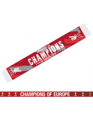 Liverpool FC Champions Of Europe Scarf  RG