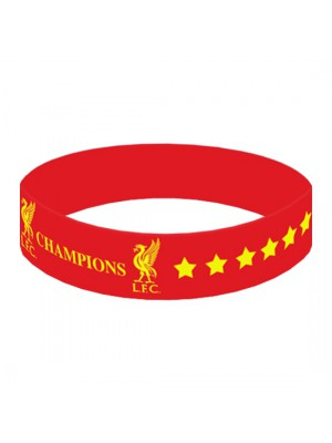 Liverpool FC Champions Of Europe Silicone Wristband