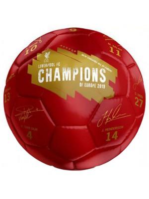 Liverpool FC Champions Of Europe Football Signature