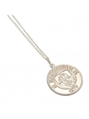 Manchester City FC Sterling Silver Pendant & Chain