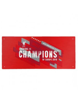 Liverpool FC Champions Of Europe Street Sign