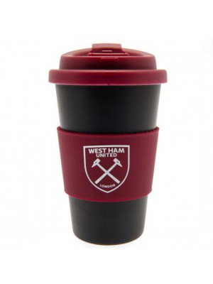 West Ham United FC Silicone Grip Travel Mug