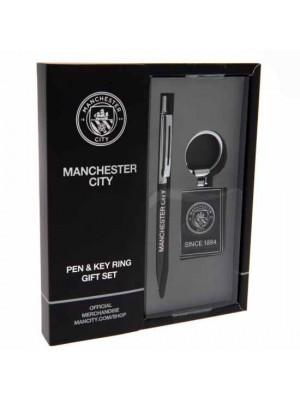 Manchester City FC Pen & Keyring Set