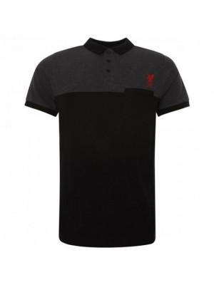Liverpool FC Block Polo Shirt Mens Black M