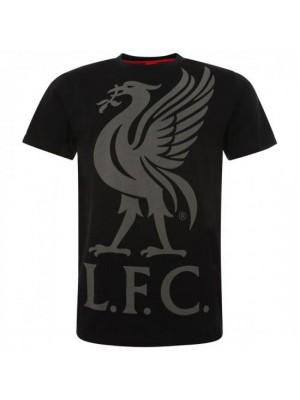 Liverpool FC Liverbird T Shirt Mens Black M