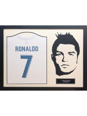 Real Madrid FC Ronaldo Signed Shirt Silhoutte