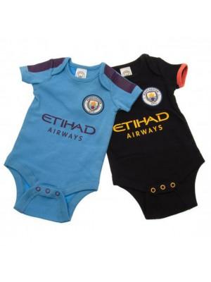 Manchester City FC 2 Pack Bodysuit 12/18 Months PL