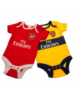 Arsenal FC 2 Pack Bodysuit 12/18 Months YL