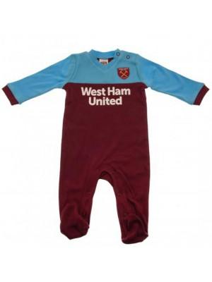 West Ham United FC Sleepsuit 0/3 Months ST