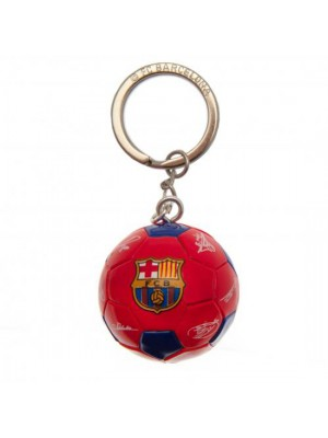 FC Barcelona Football Keyring Signature