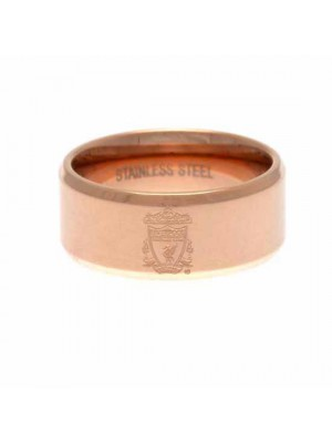 Liverpool FC Rose Gold Plated Ring Medium