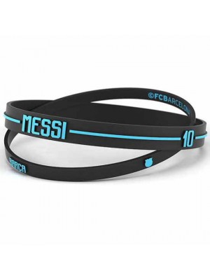 FC Barcelona 2pk Silicone Wristbands Messi Adults