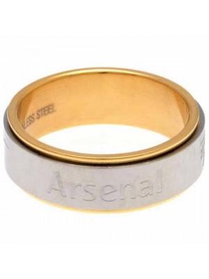 Arsenal FC Bi Colour Spinner Ring Medium