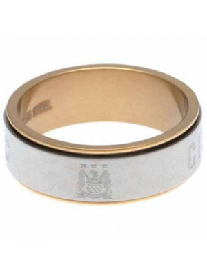 Manchester City FC Bi Colour Spinner Ring X-Small