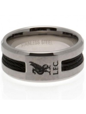 Liverpool FC Black Inlay Ring Small