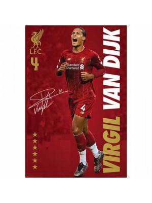Liverpool FC Poster Van Dijk 14