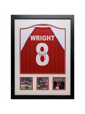 Arsenal FC Wright Signed Shirt Framed