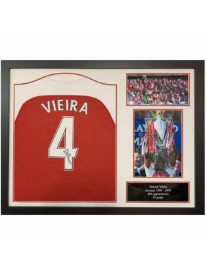 Arsenal FC Vieira Signed Shirt Framed