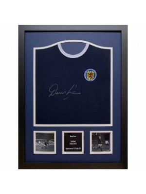 Scotland FA Denis Law Signed Shirt Framed