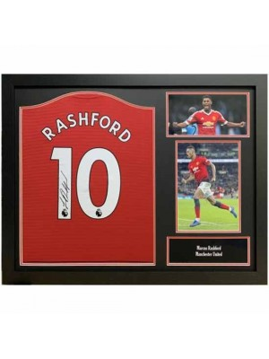 Manchester United FC Rashford Signed Shirt Framed