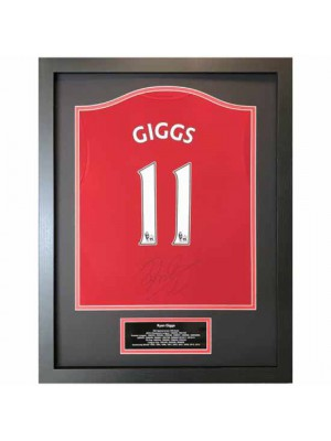 Manchester United FC Giggs Signed Shirt Framed