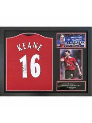 Manchester United FC Keane Signed Shirt Framed