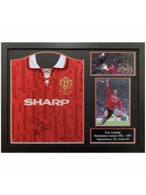 Manchester United FC Cantona Signed Shirt Framed